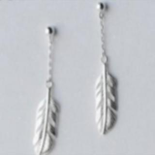 Silver Feather Dangles