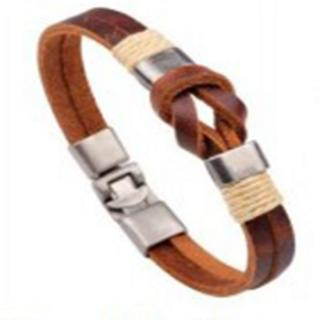 Knotted Leather bangle
