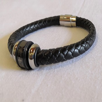 Plated Leather Bangle