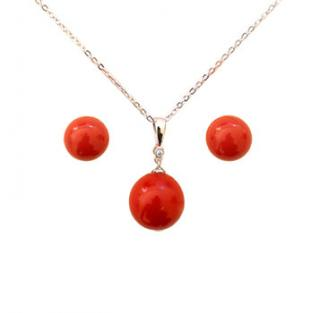 Red Shell Pearl Set