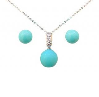 Shell Pearl Set - Turquoise